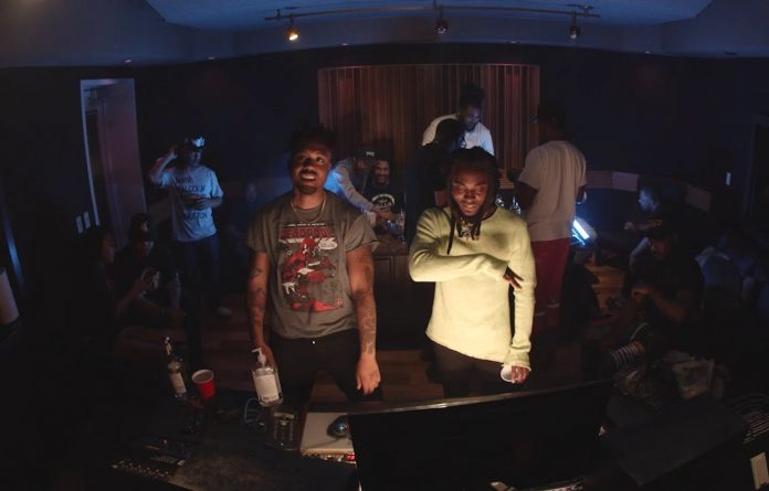 EarthGang in the video for 'Aretha'