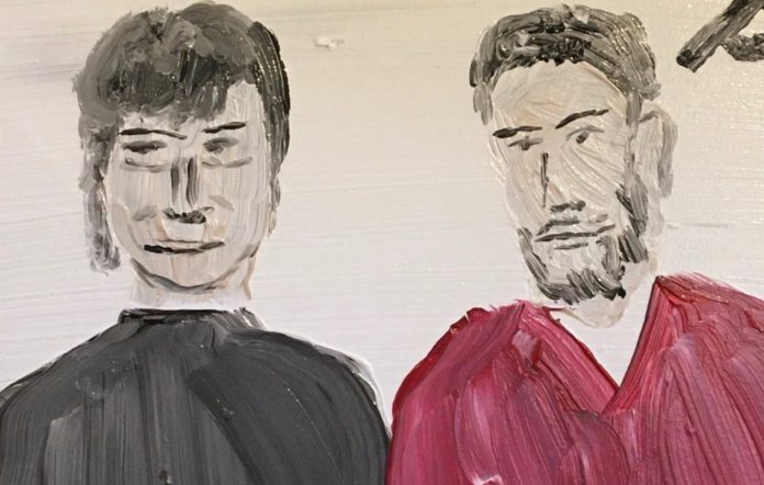 Snowy and Lachlan Denton, painted by Denton