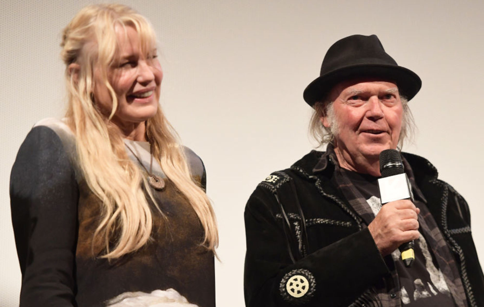 Daryl Hannah and Neil Young