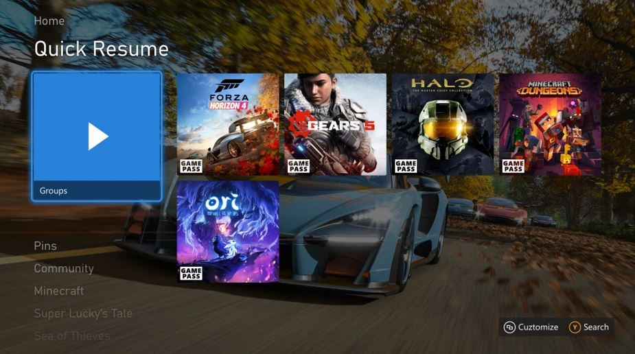 Xbox Series X/S Quick Resume screengrab