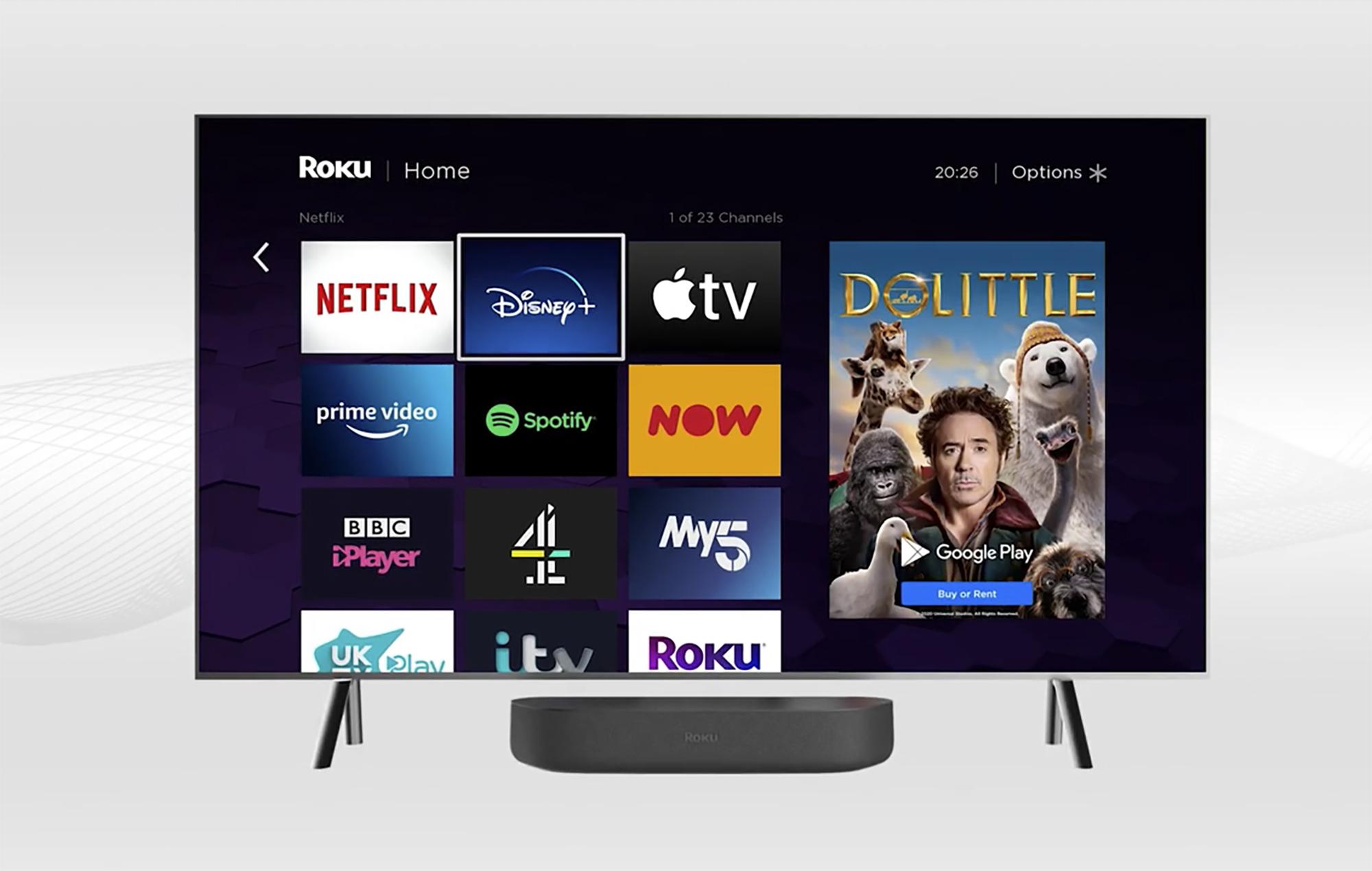 Roku Streambar screen