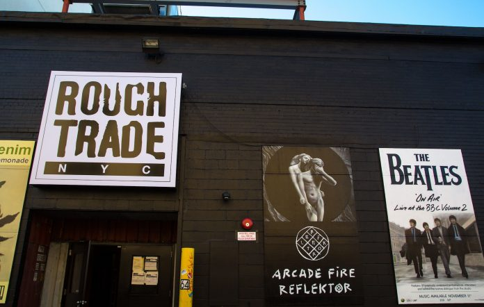 Rough Trade NYC's former location in Brooklyn in 2013