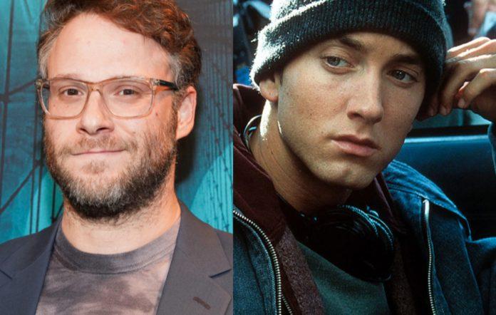 Seth Rogen and Eminem in 8 Mile