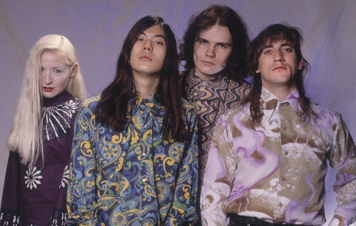 Original Smashing Pumpkins members D'arcy Wretzky, James Iha, Billy Corgan and Jimmy Chamberlin in 1991