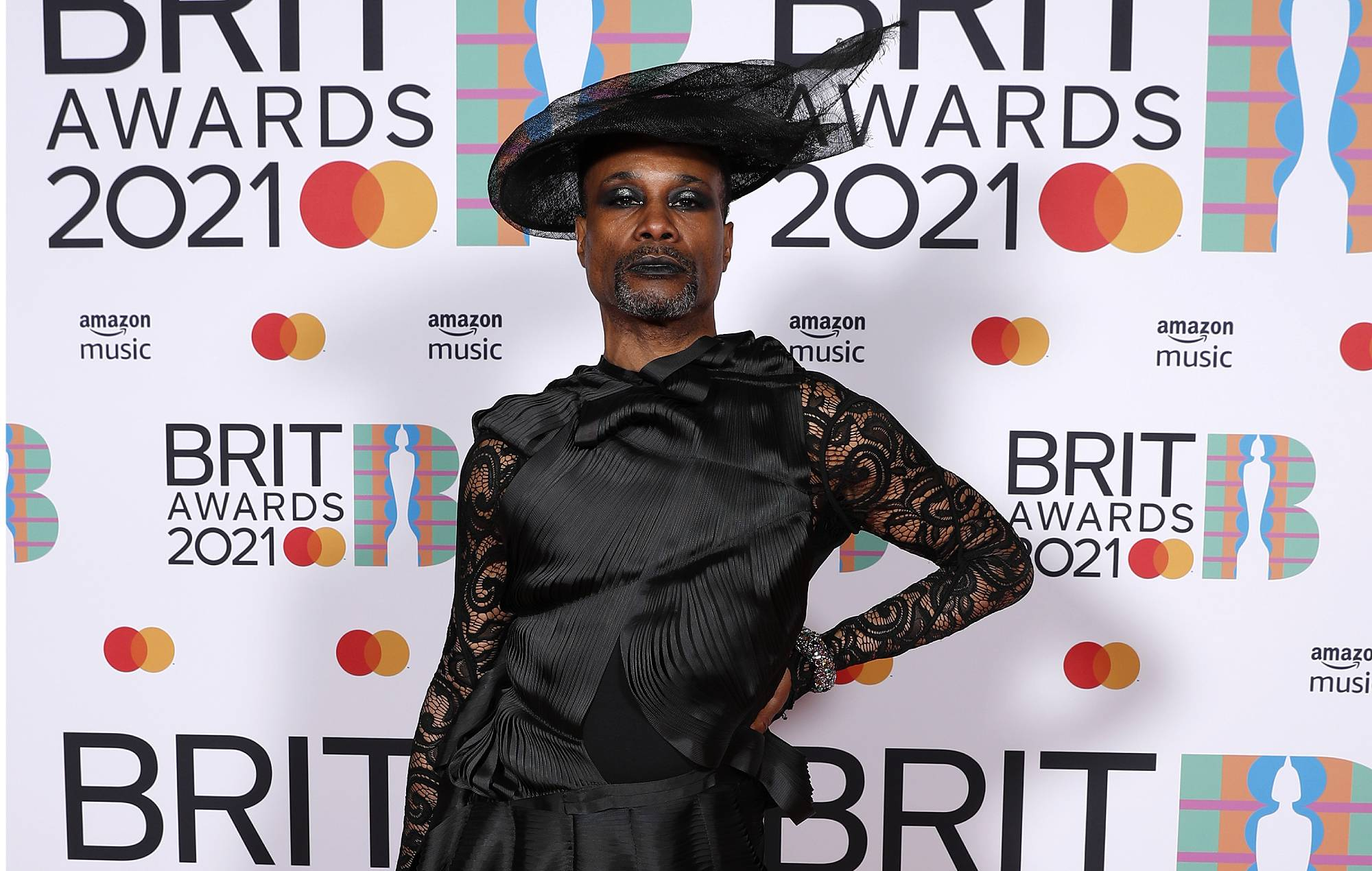 Billy Porter poses in the media room during The BRIT Awards 2021 at The O2 Arena on May 11, 2021 in London, England. (Photo by JMEnternational/JMEnternational for BRIT Awards/Getty Images)