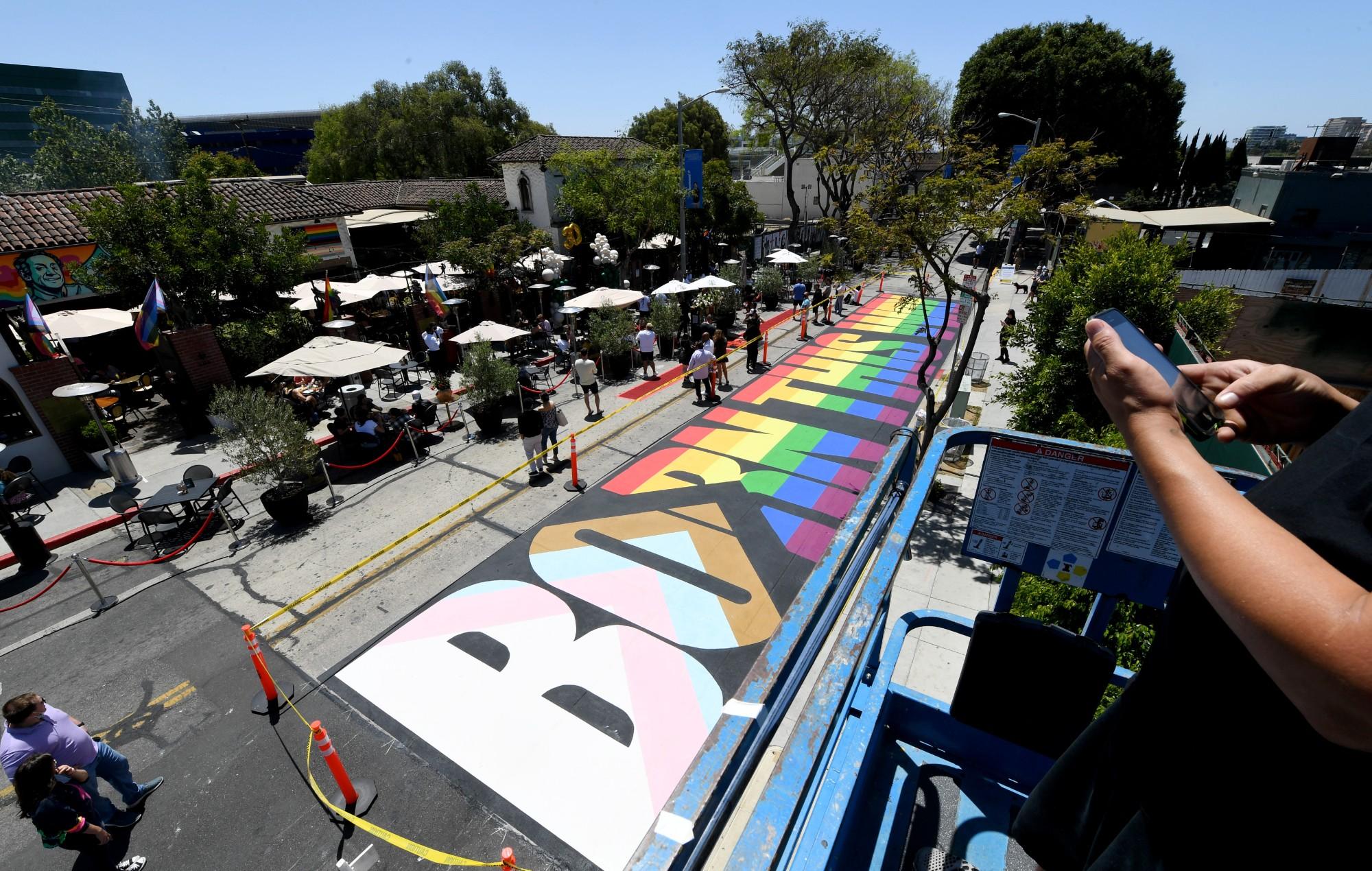 born this way street painting
