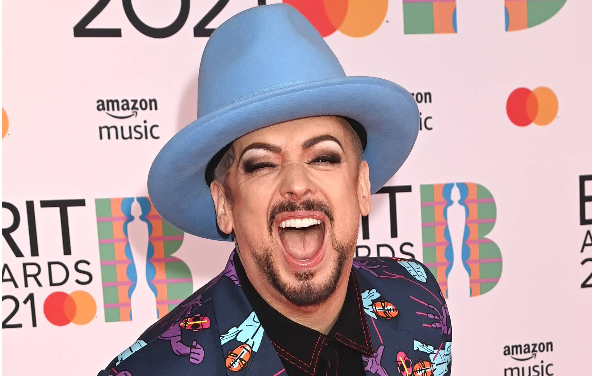 Boy George attends The BRIT Awards 2021 at The O2 Arena on May 11, 2021 in London, England. (Photo by Dave J Hogan/Getty Images)