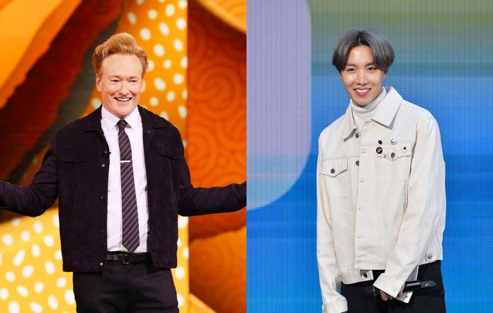 Conan O'Brien reacts to BTS' J-Hope calling him
