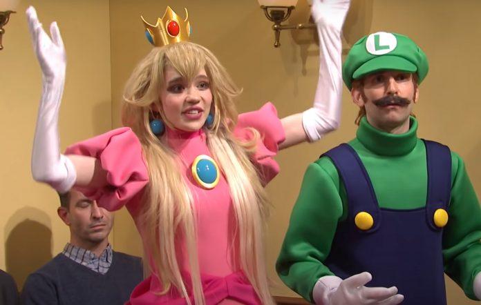 Grimes Princess Peach SNL