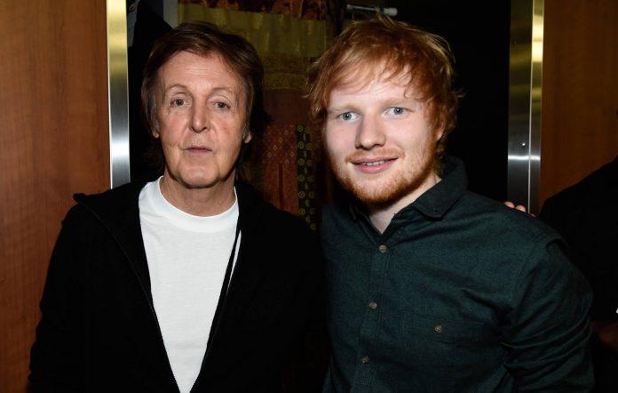 Paul McCartney and Ed Sheeran
