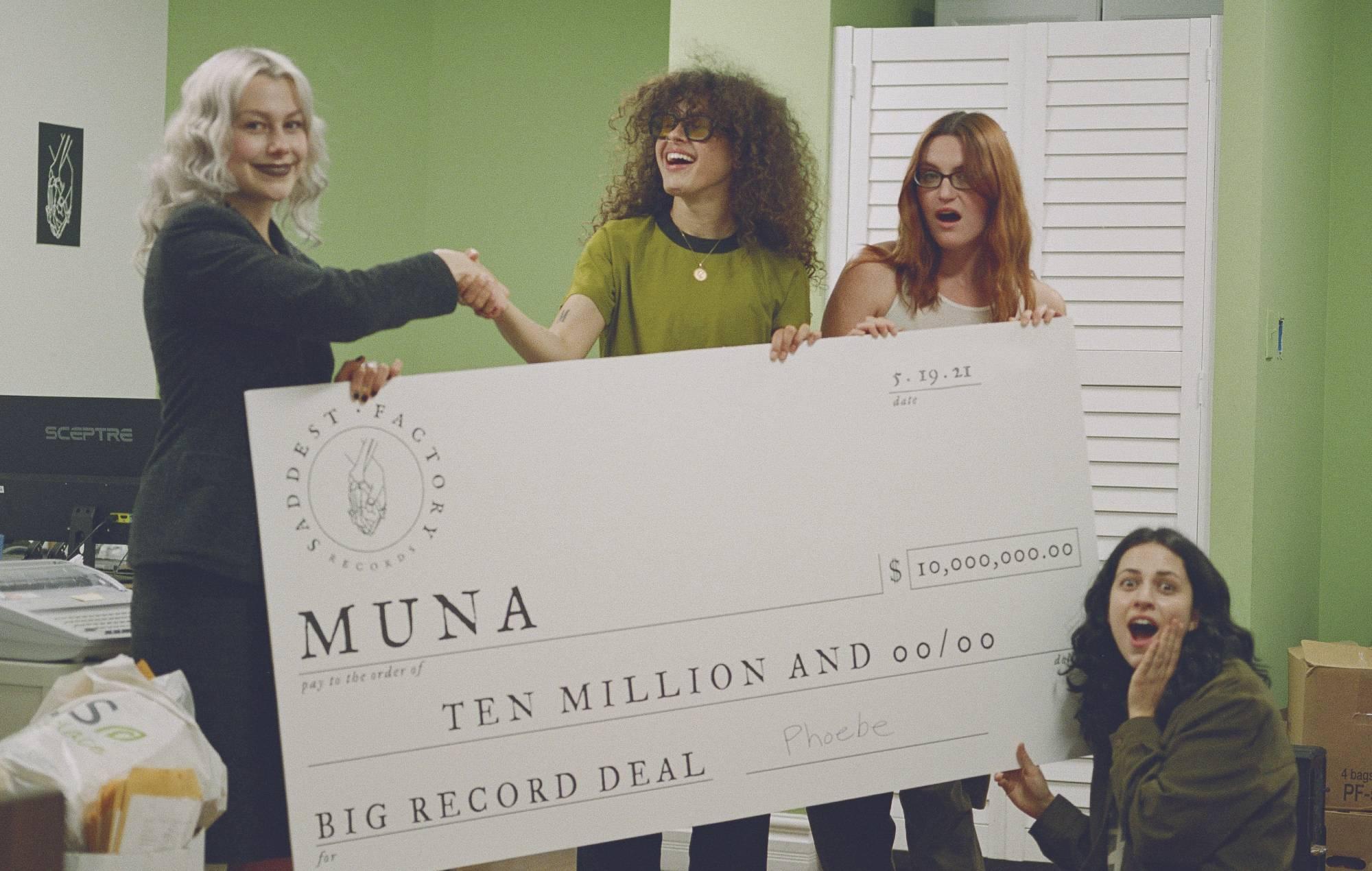 MUNA sign to Phoebe Bridgers' label Saddest Factory Records