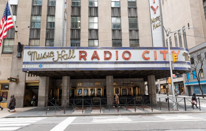 Radio City Music Hall in New York will open to vaccinated audiences in June 2021.