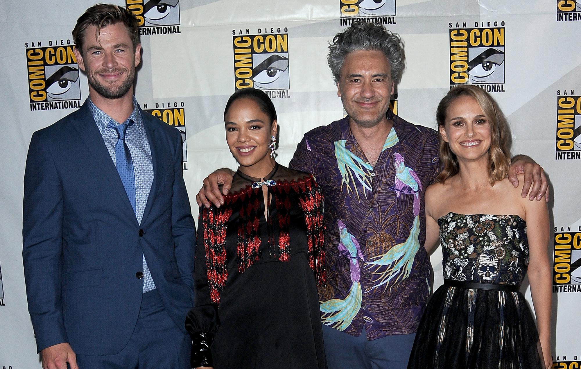 Thor Love and Thunder filming in Australia Chris Hemsworth Taika Waititi Tessa Thompson Russell Crowe Natalie Portman