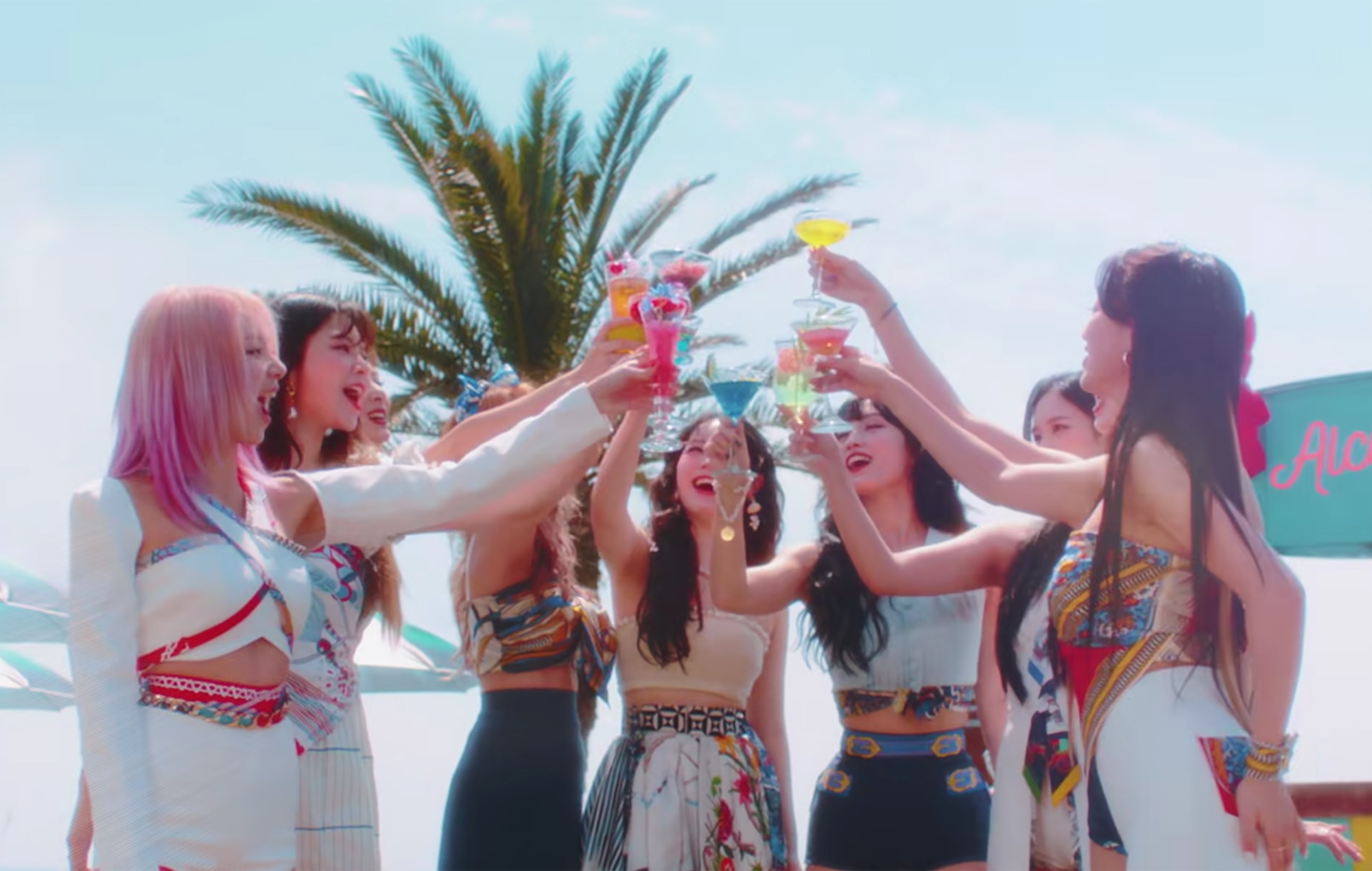 Watch TWICE throw a pool party in tropical 'Alcohol-Free' teaser