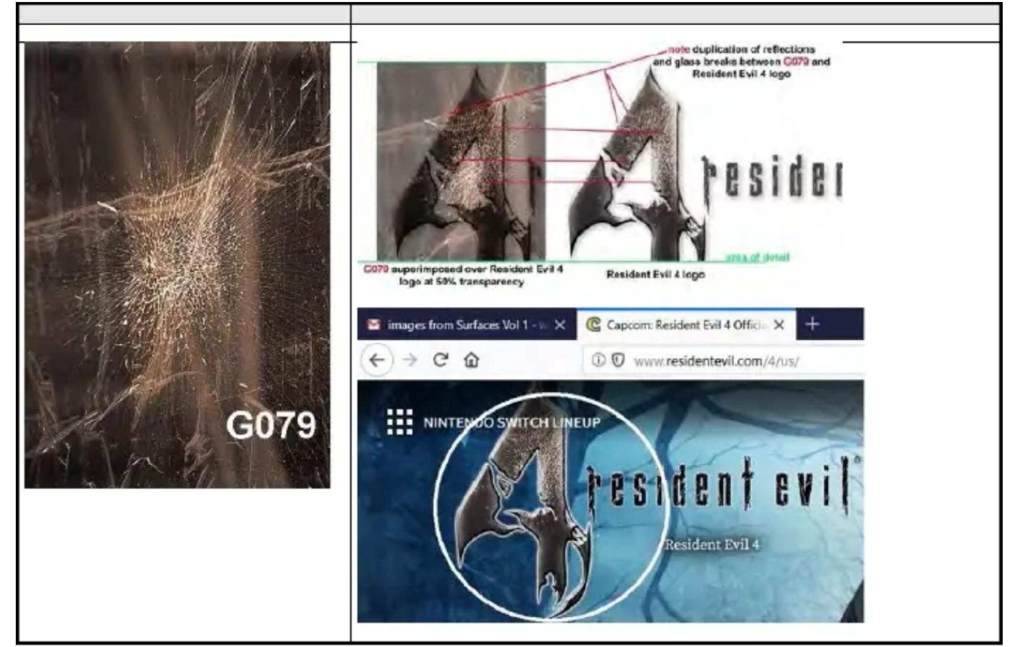 Juracek vs Capcom Lawsuit Resident Evil 4 Glass Example