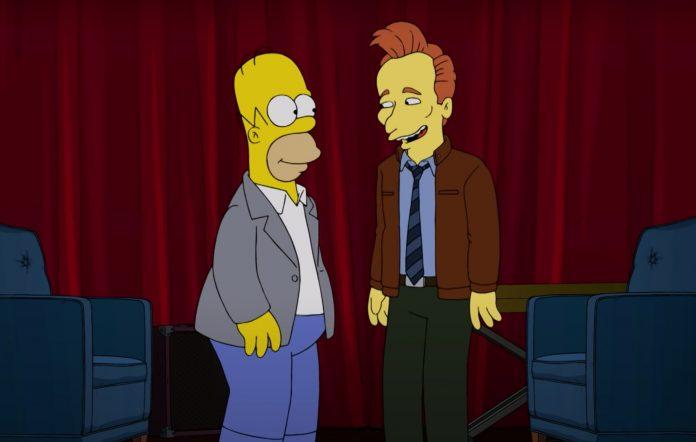 Conan O'Brien and Homer Simpson