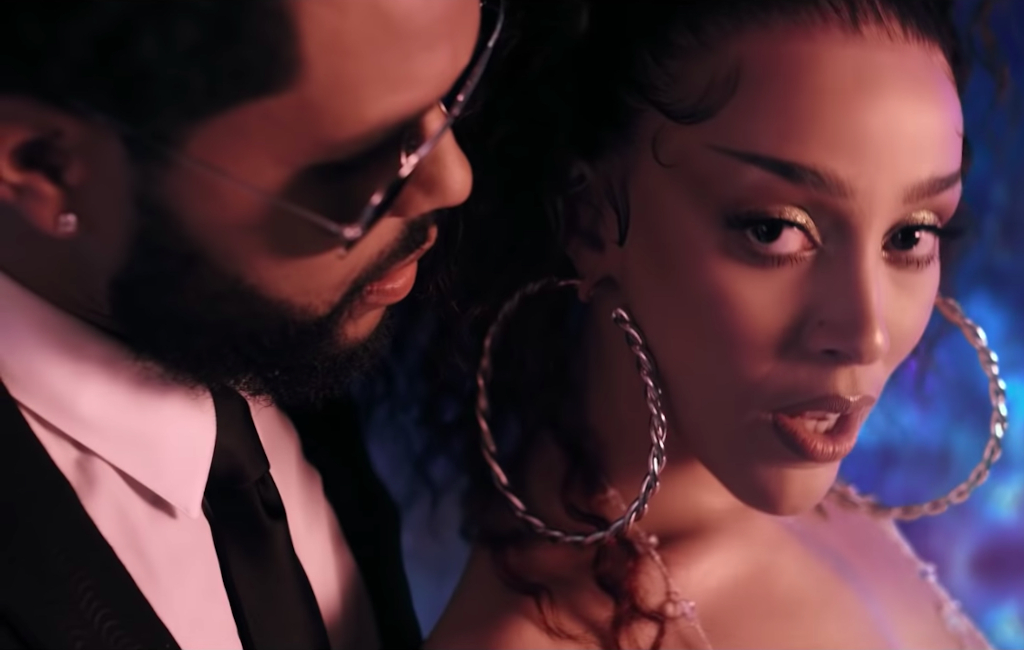 The Weeknd and Doja Cat in the 'You Right' video