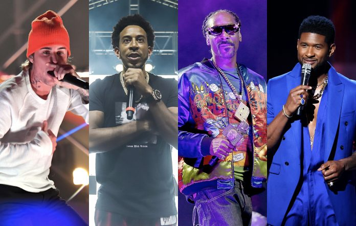 Justin Bieber, Ludacris, Snoop Dogg and Usher