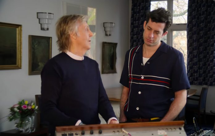 Paul McCartney and Mark Ronson in the trailer for 'Watch the Sound'