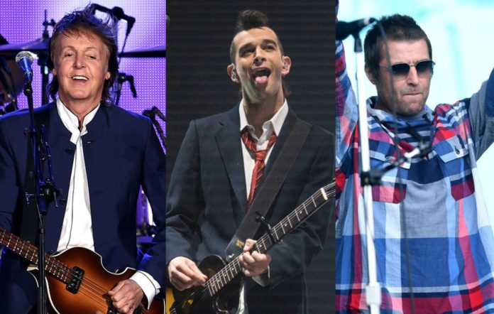 Paul McCartney, The 1975 and Liam Gallagher