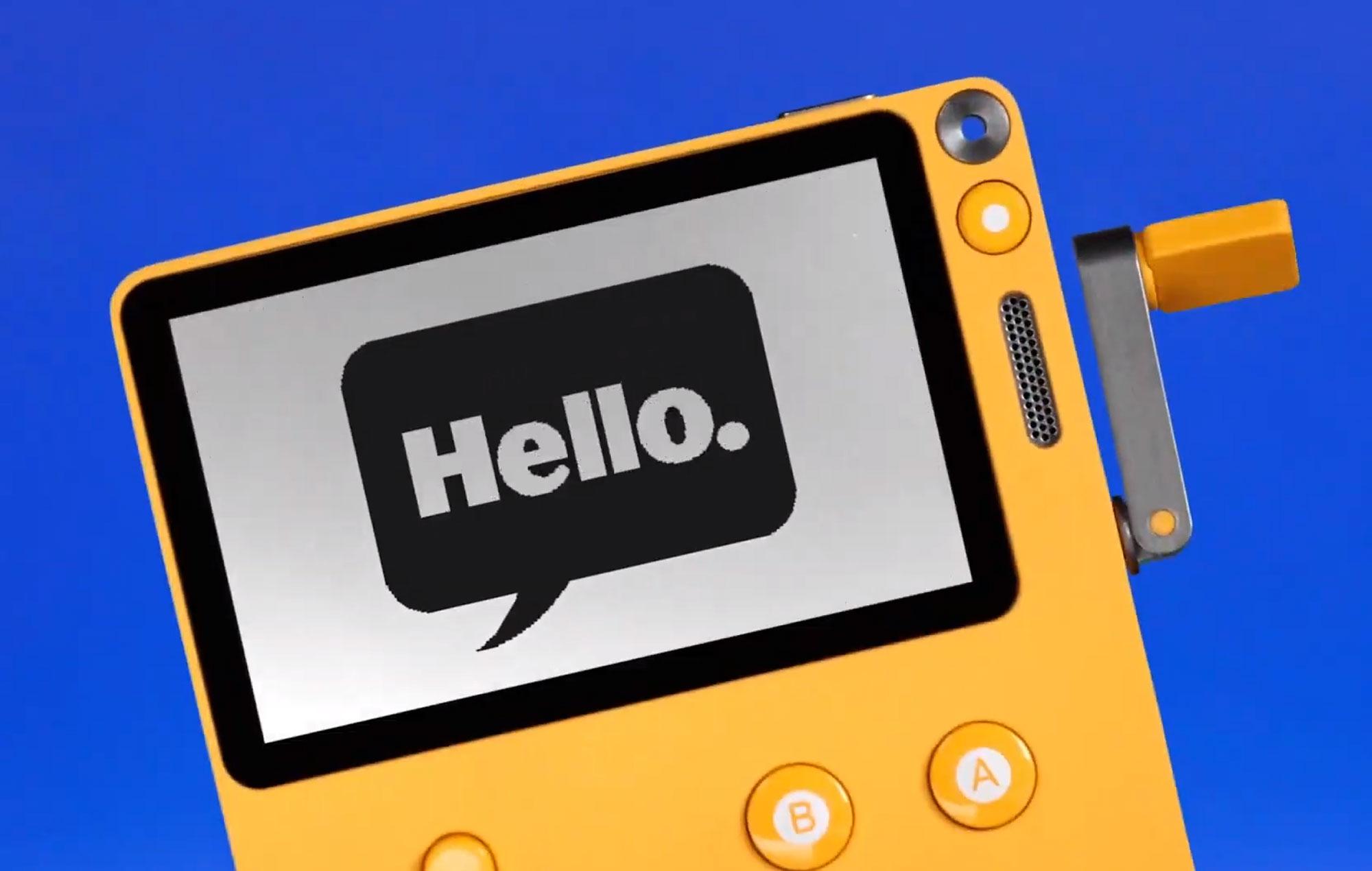 Playdate handheld console Hello