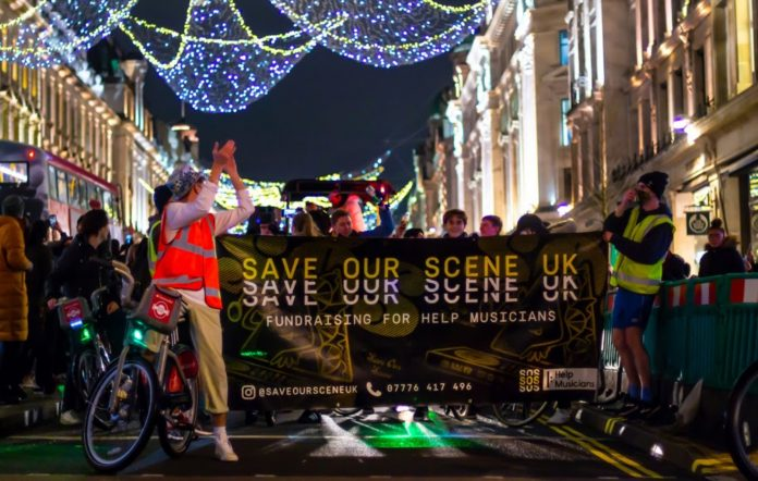 Save Our Scene protest