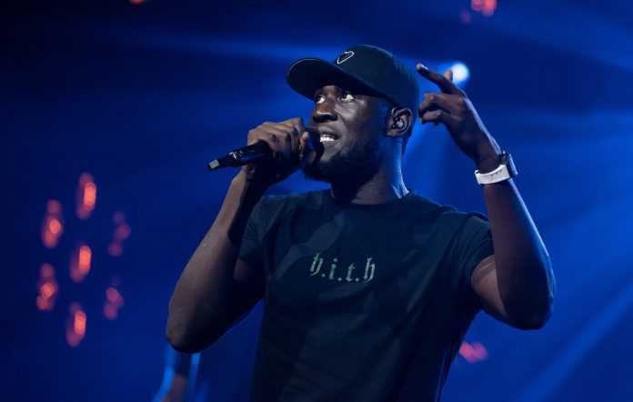 Stormzy performing live in 2020