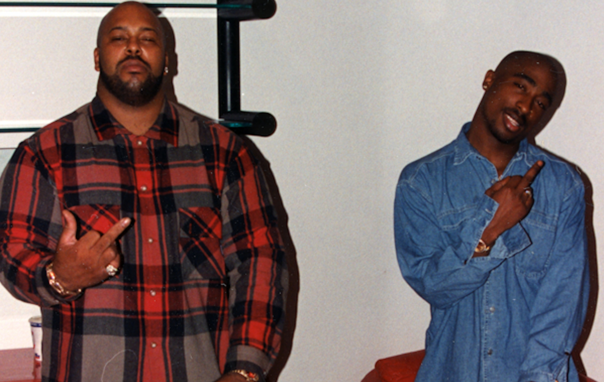 Suge Knight and 2Pac