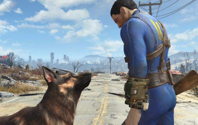 Dogmeat companion Fallout 4 screenshot