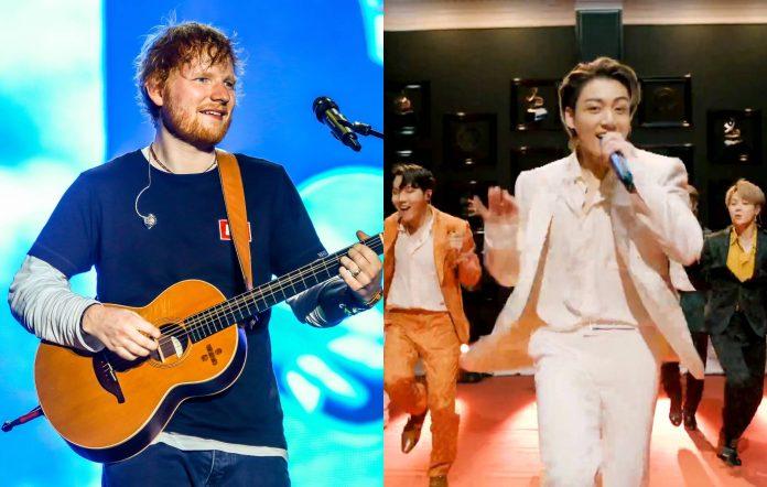 Ed Sheeran and BTS