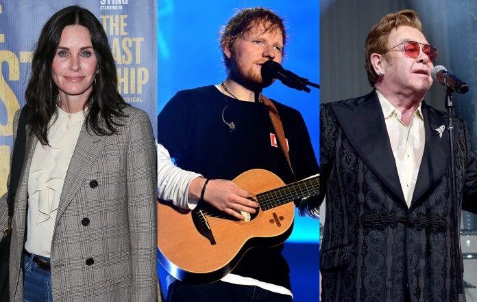 Courteney Cox, Ed Sheeran, Elton John
