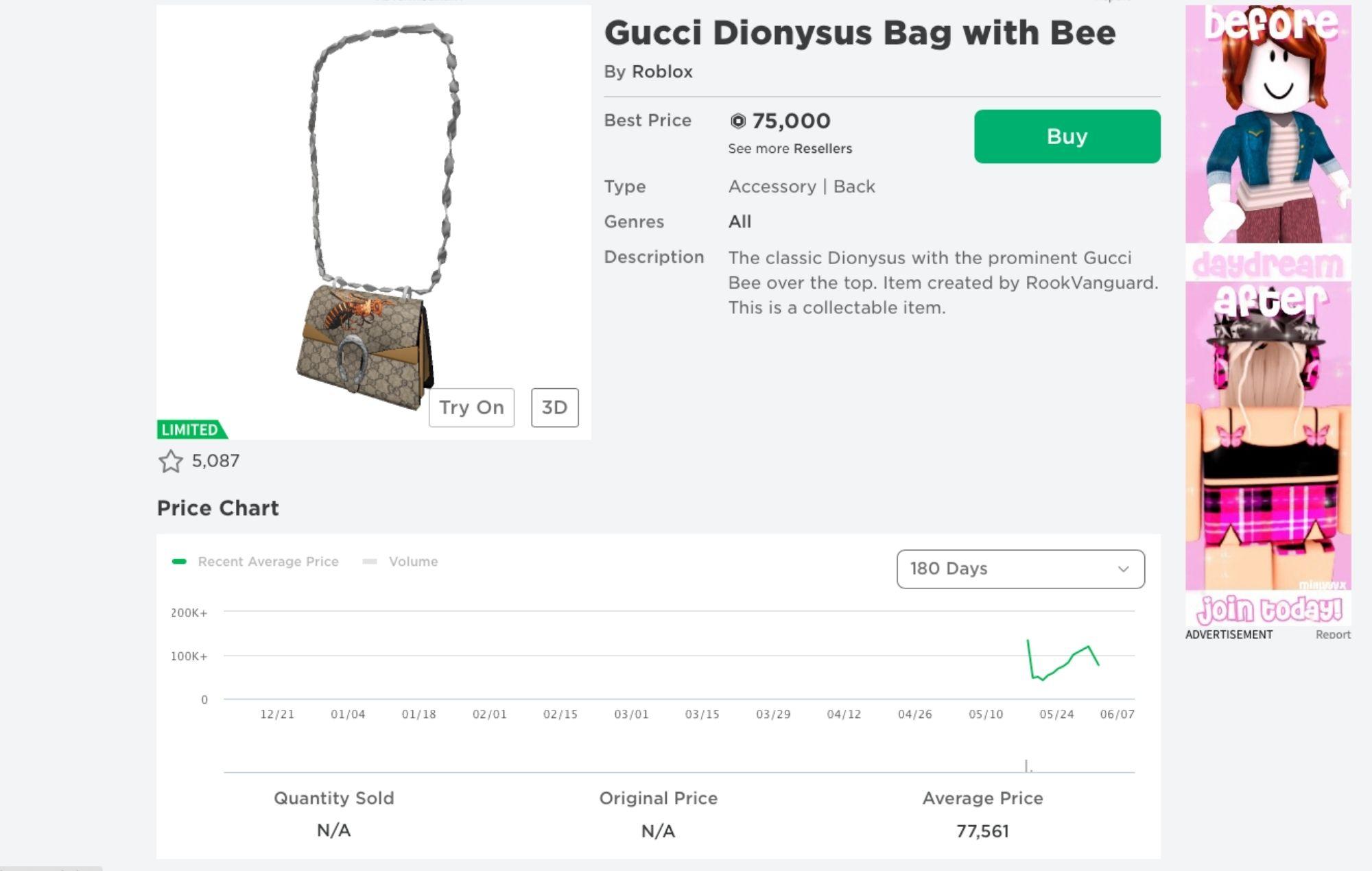 Roblox Gucci Bag