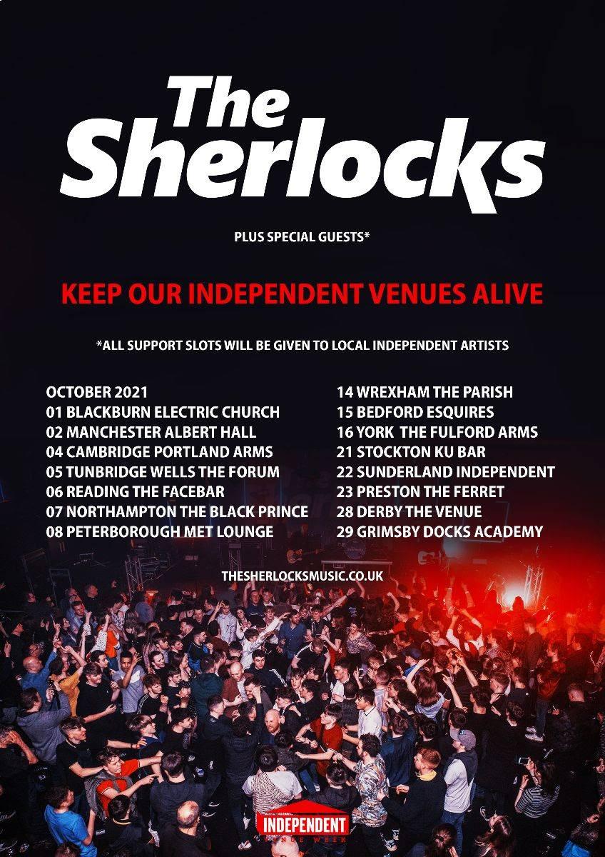 The Sherlocks UK tour, 2021