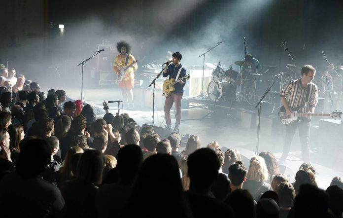 Vampire Weekend perform on stage at EartH Hackney on March 21, 2019 in London, England. (Photo by Chiaki Nozu/Redferns)