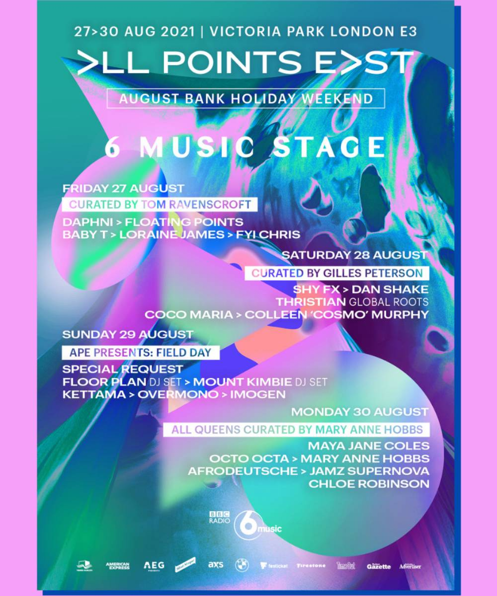 All Points East's 6 Music Stage Poster