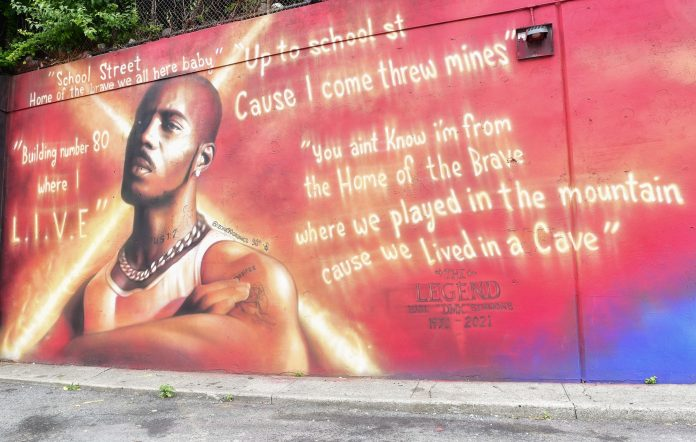 The DMX mural in Yonkers, New York