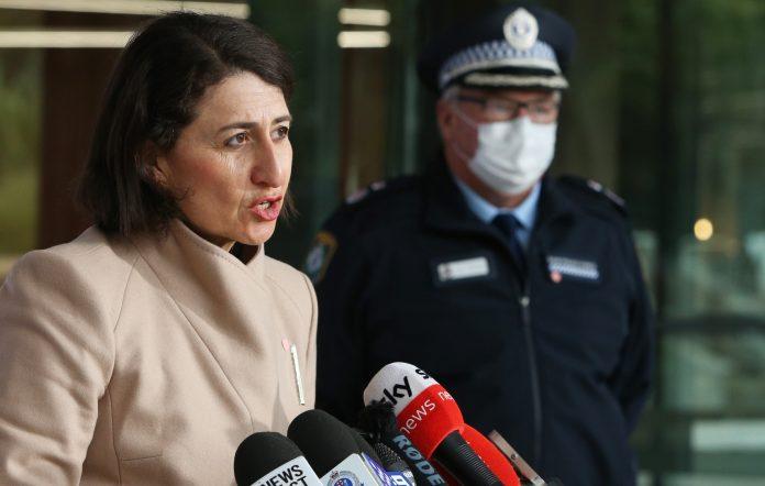Gladys Berejiklian at a COVID-19 press conference