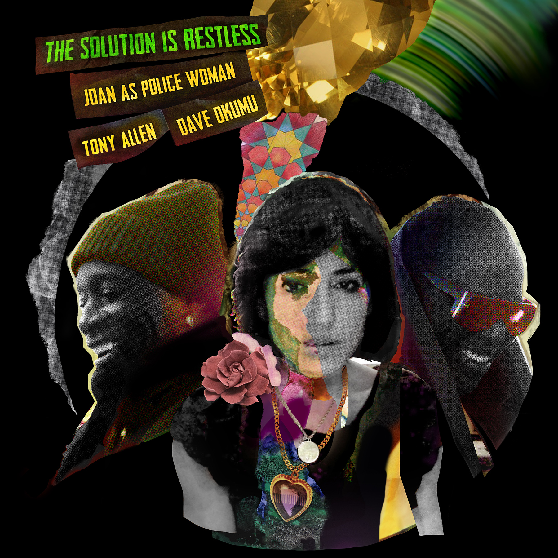 Joan as Police Woman, Dave Okumu, Tony Allen 'The Solution is Restless' album art