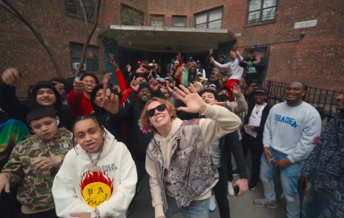 Still from The Kid LAROI's 'Not Sober' video