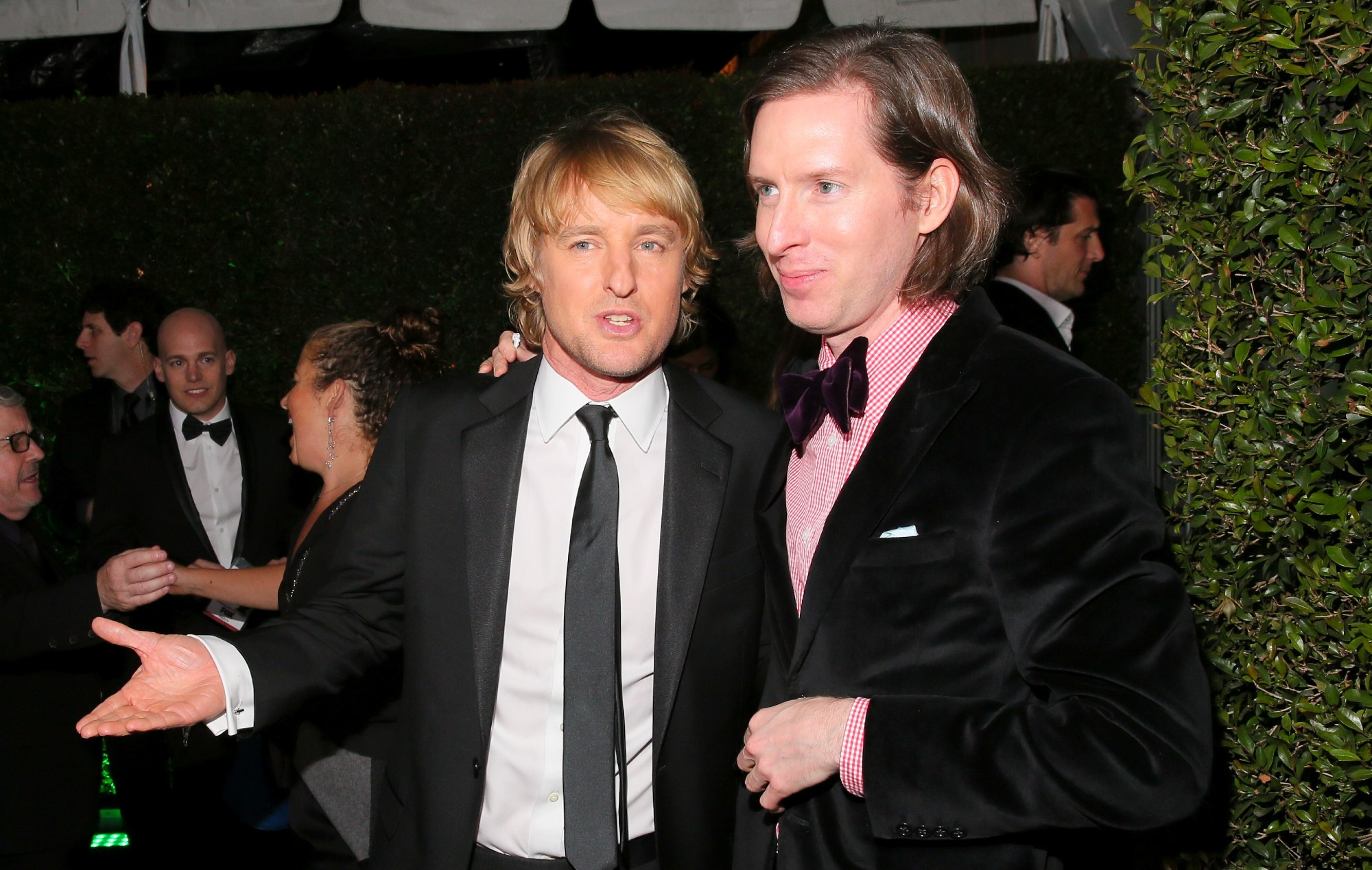 Owen Wilson and Wes Anderson at the Golden Globes