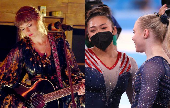 Taylor Swift, Team USA gymnasts Sunisa Lee and Jade Carey