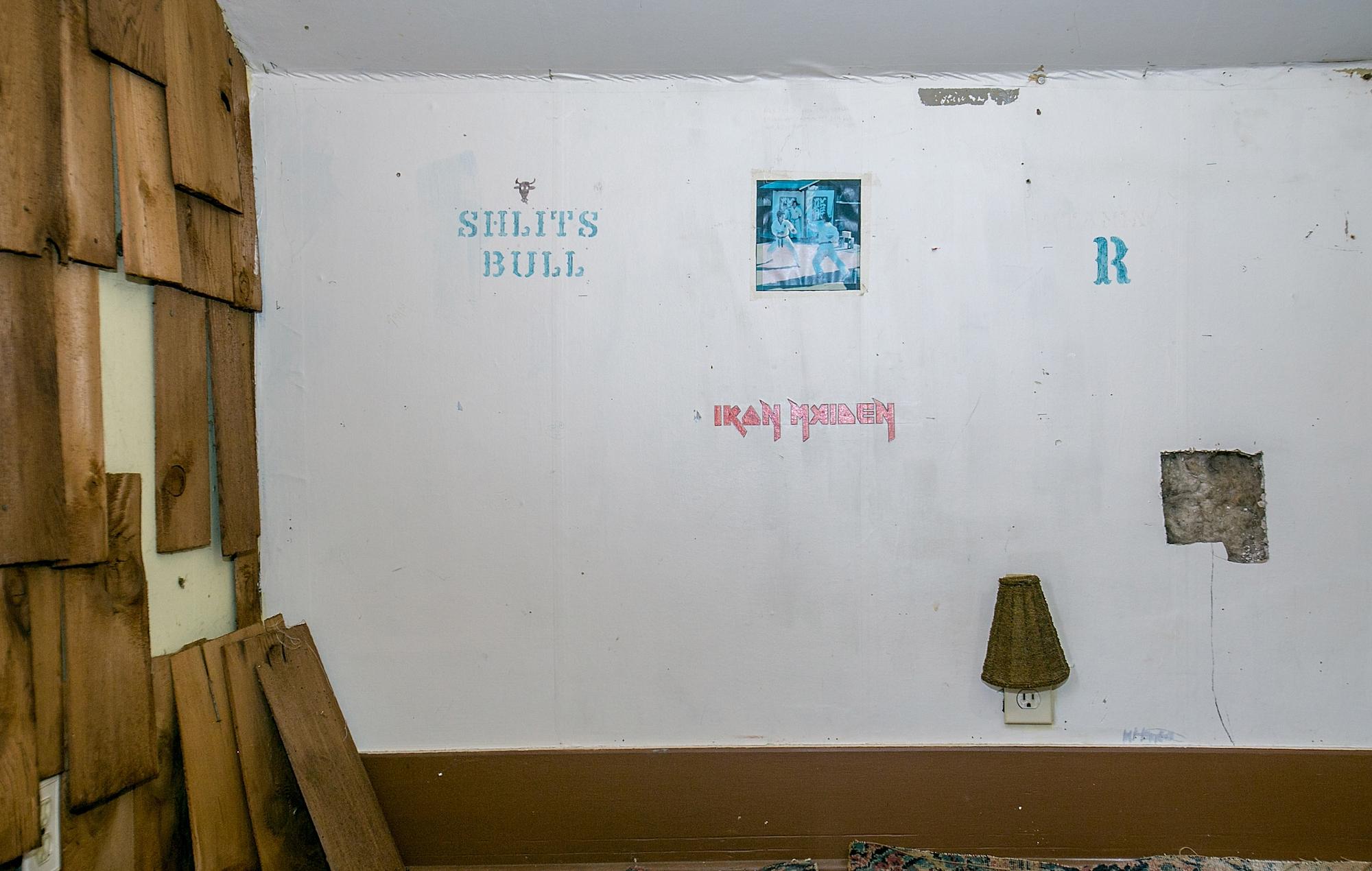 The 'music room' of Kurt Cobain's childhood home. Credit: Suzi Pratt/Getty Images