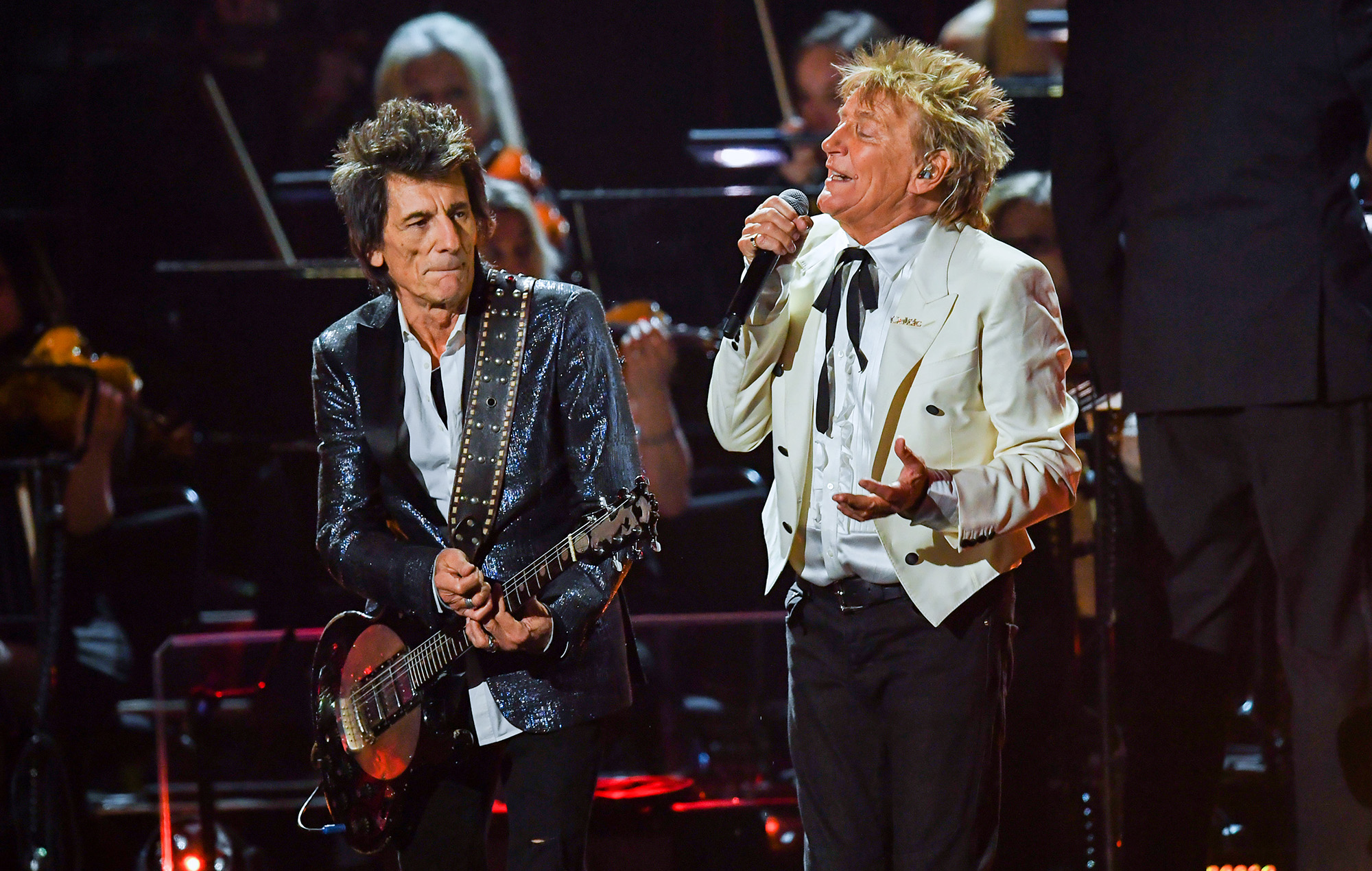 Ronnie Wood and Rod Stewart of The Faces.