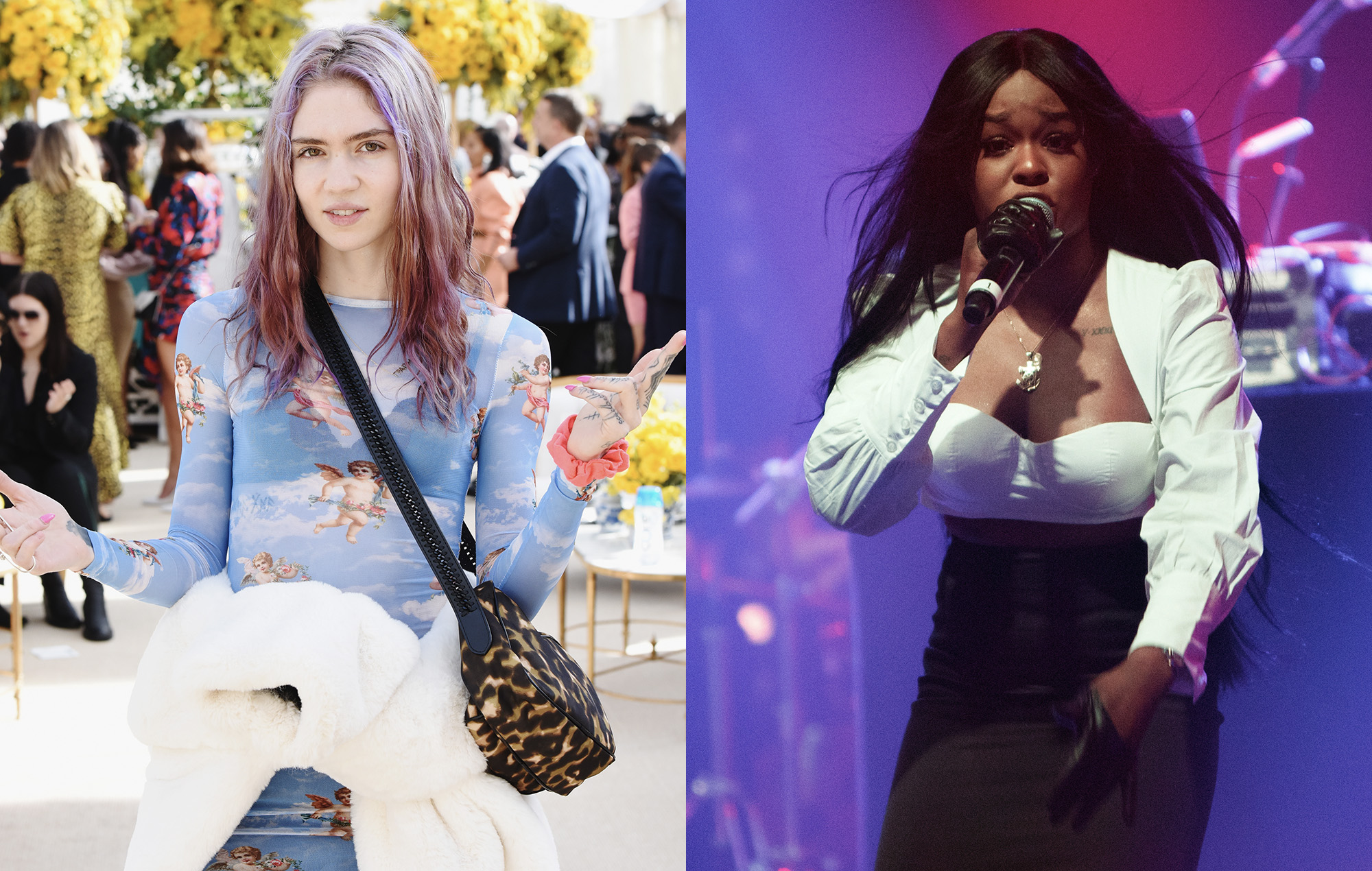 """Grimes says her new song is """"about having to defeat Azealia Banks when she tried to destroy my life"""" - NME.com"""