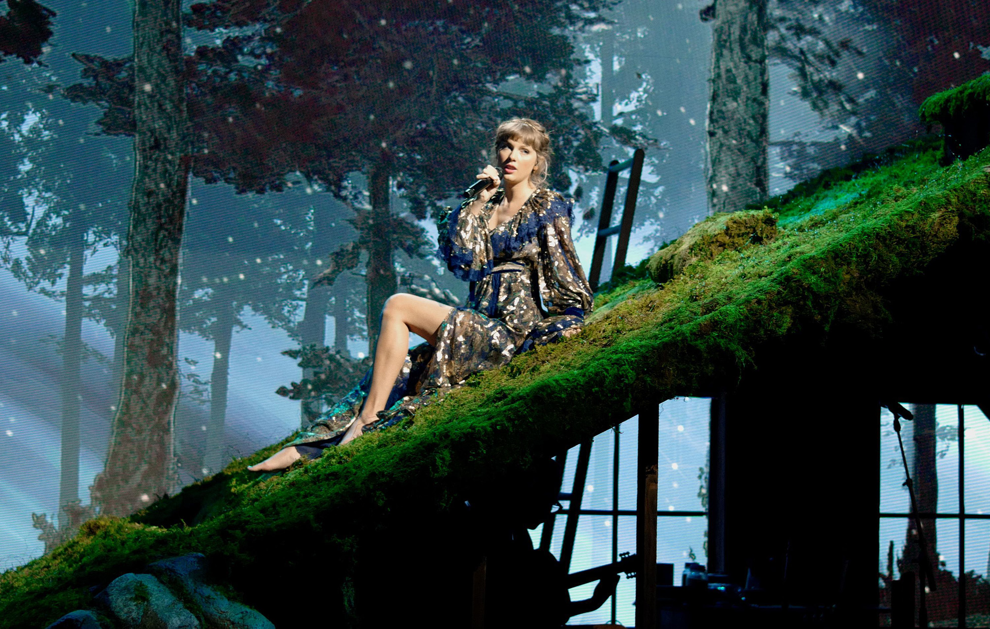 Taylor Swift performs onstage for the 63rd Annual GRAMMY Awards.