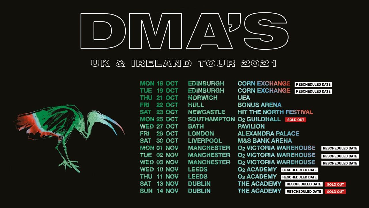 DMA'S UK and Ireland tour, 2021