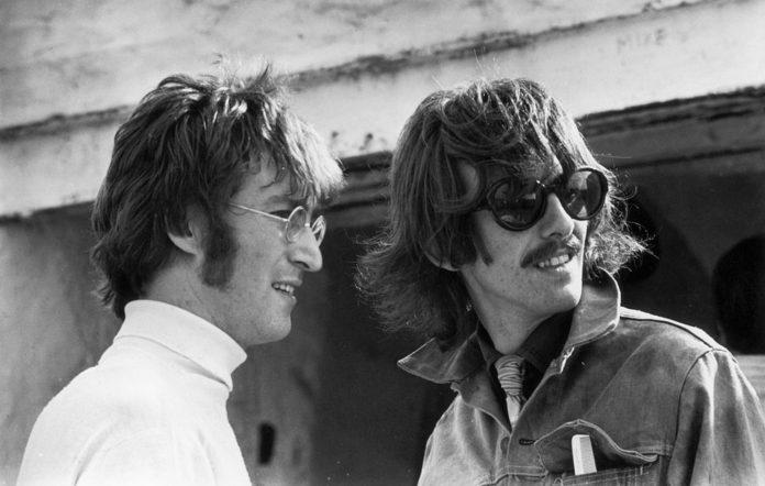 Beatles legends John Lennon and George Harrison
