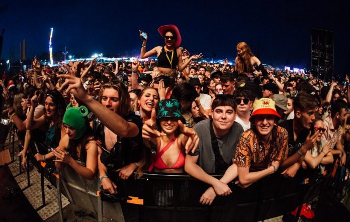 The brilliant people on the front row for Disclosure at Reading 2021. (Photo: Andy Ford)