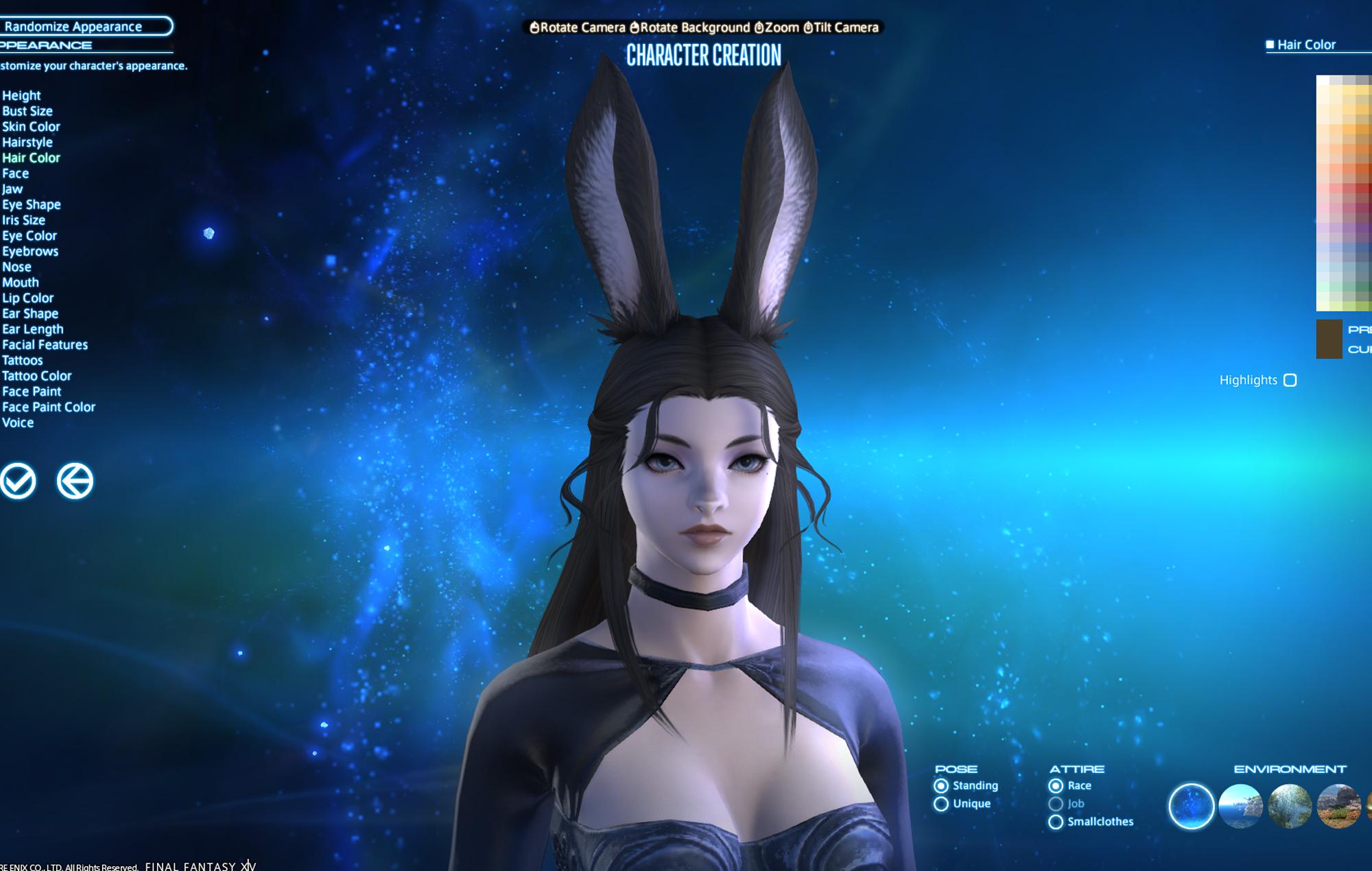 FFXIV Character creator