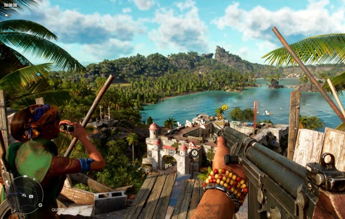 Scoping out a castle in Far Cry 6